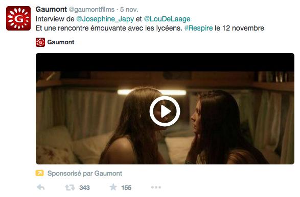 """Sortie du dernier film """"Respire"""" de Mélanie Laurent, traitant d'une histoire d'""""amour"""" lesbien entre deux lycéennes"""